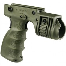 """FAB Defence - TACTICAL FOREGRIP WITH 1"""" WEAPON LIGHT ADAPTER AND INTEGRATED REAR ON/OFF TRIGGER - OLIVE"""