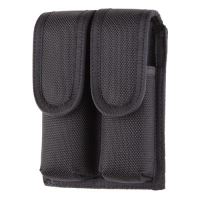 1 Only - Aker Leather - C910 A-TAC Double Mag Pouch 9/40 (Black Ballistic)