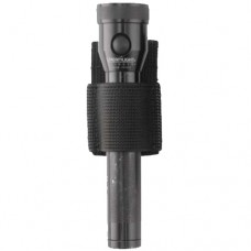 3 Only - Aker Leather - C954S A-TAC Open Top Flashlight Holder (Black Ballistic)