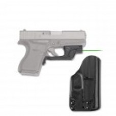 Crimson Trace - LG-443GH BT GREEN LASERGUARD® WITH BLADE-TECH IWB HOLSTER FOR GLOCK 43