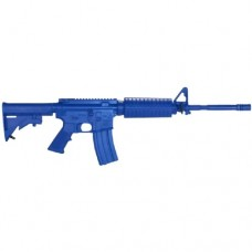 Rings Blue Guns - Colt Flat Top M4 Firearm Simulator with Closed Stock